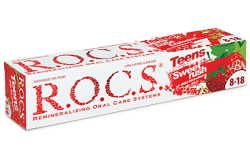 R.O.C.S Teens Sweet rush toothpaste with wild strawberry flavor